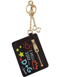 Dolce & Gabbana - Doodle Printed Pouch Keyring - Lyst