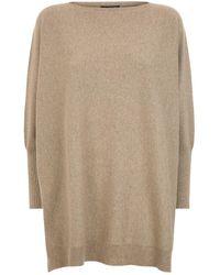 Harrods - Metallic Oversized Sweater - Lyst