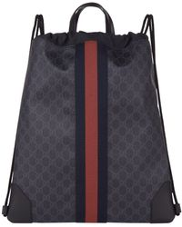 2f4071aa5a8f78 Gucci - GG Supreme Drawstring Backpack - Lyst