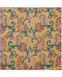 Turnbull & Asser - Paisley Print Silk Pocket Square - Lyst
