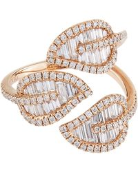 Anita Ko - Rose Gold Leaf Ring - Lyst