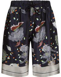 Meng - Floral Print Silk Shorts - Lyst