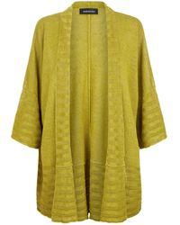 Eskandar - Hand-loomed Knitted Linen Poncho Cardigan - Lyst