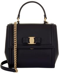 Ferragamo - Small Carrie Leather Bag - Lyst