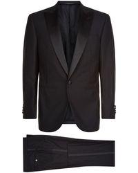 Corneliani - Black Super 160's Wool Tuxedo Suit - Size 40 - Lyst