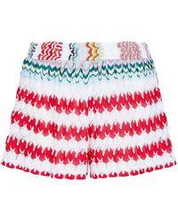 Missoni - Patterned Knit Shorts - Lyst