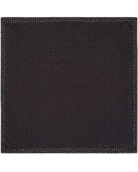 Armani - Silk Brick Printed Pocket Square - Lyst