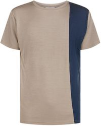 Homebody - Contrast Panel Lounge T-shirt - Lyst