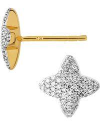 Links of London - Yellow Gold And Diamond Splendour Stud Earrings - Lyst