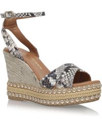 KG by Kurt Geiger - Amelia Espadrille Wedges, Beige, It 37 - Lyst