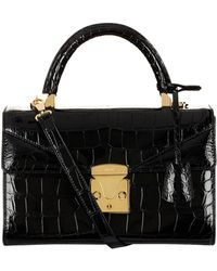 Stalvey - Alligator Top Handle Bag - Lyst