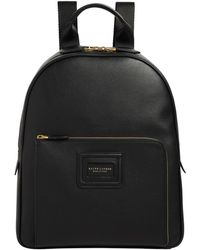 27ebb28b32a0 Ralph Lauren Purple Label Leather And Canvas Backpack in Black for ...