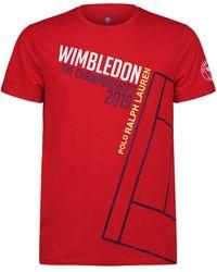 c9bf8aa1 Polo Ralph Lauren - Wimbledon Championships T-shirt - Lyst