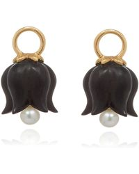 Annoushka - Yellow Gold And Ebony Tulip Earring Drops - Lyst