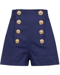 Balmain - Button-front Shorts - Lyst