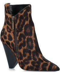 Saint Laurent - Niki Leopard Print Ankle Boots 105 - Lyst
