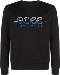 BOSS - Embroidered Logo Sweatshirt - Lyst