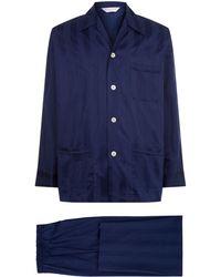 Derek Rose - Lingfield Satin Stripe Pyjama Set - Lyst