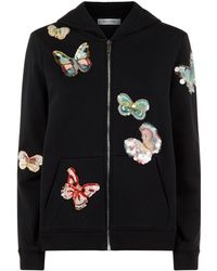 Valentino - Embellished Butterfly Hoodie - Lyst