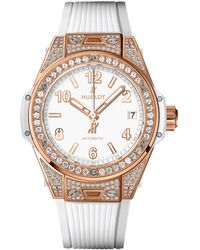 Hublot - Big Bang One Click18k King Gold White Pav Watch - Lyst