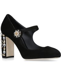 Dolce & Gabbana - Suede Mary Jane Court Shoes 90 - Lyst
