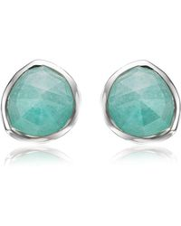 Monica Vinader - Siren Amazonite Stud Earrings - Lyst