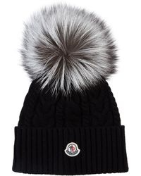 Moncler - Fox Fur Bobble Hat - Lyst 0343541cdd3