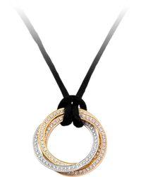 Cartier - Trinity De Diamond Pendant Cord Necklace - Lyst