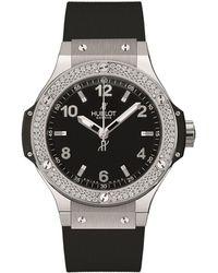 Hublot - Big Bang 38mm Steel Diamond Watch - Lyst