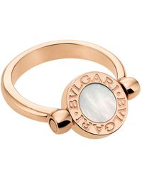 BVLGARI - Bulgari Bulgari Rose Gold Flip Ring - Lyst