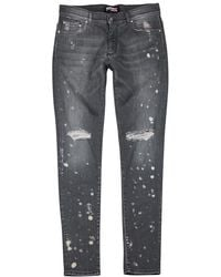 Represent - Destroyer Distressed Skinny Jeans - Lyst