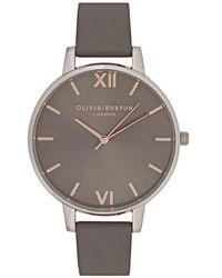 Olivia Burton - Big Dial Silver-plated Watch - Lyst