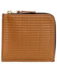 Comme des Garçons - Brown Embossed Leather Wallet - Lyst