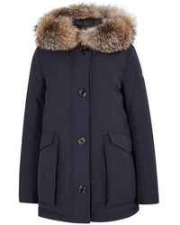 Moncler - Courvite Fur-trimmed Shell Coat - Lyst