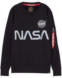 Alpha Industries - Nasa Reflective Cotton-blend Sweatshirt - Lyst