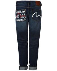412d3dbdac85 Evisu - Carrot-fit Denim Jeans With Brand Motto And Seagull Print - Lyst