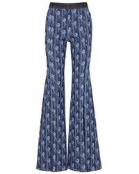 Chloé - Blue Horse-print Flared Jeans - Lyst