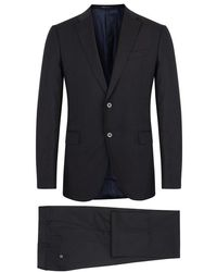 Armani - Navy Wool Suit - Size 46 - Lyst
