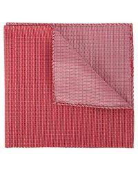 Emporio Armani - Red Silk Jacquard Pocket Square - Lyst
