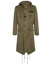Alexander McQueen - Olive Embroidered Cotton Parka - Lyst