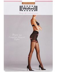Wolford | Pure Gobi 30 Denier Support Tights - Size M | Lyst