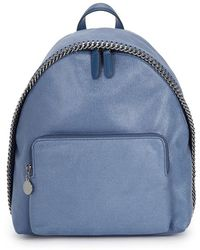 Stella McCartney - Falabella Small Faux Suede Backpack - Lyst