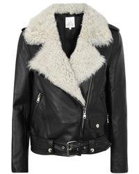 La Bete   Classic Black Leather Jacket   Lyst