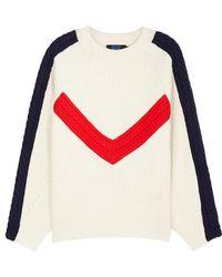SJYP - Color-blocked Wool Jumper - Lyst