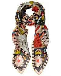 Givenchy - Egyptian Wings Printed Silk Chiffon Scarf - Lyst