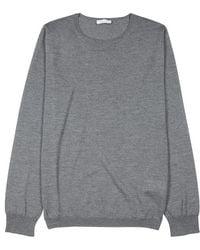 Boglioli - Grey Melangé Wool Jumper - Lyst