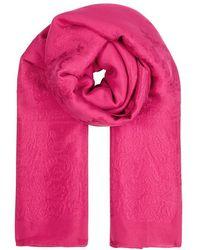 Givenchy | Cerise Floral-jacquard Silk Scarf | Lyst