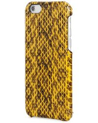 The Case Factory - Yellow Watersnake Iphone 6/6s Case - Lyst
