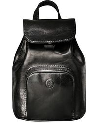 Maxwell Scott Bags - Best Small Black Italian Leather Rucksack For Women - Lyst