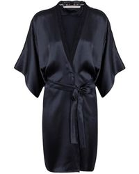 Stella McCartney - Clara Whispering Lace-trimmed Silk Robe - Size S - Lyst